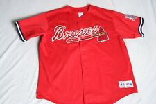 Vintage Majestic ATLANTA BRAVES Button-Down (2XL) Baseball Jersey