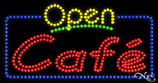 "New ""Open Cafe"" 32x17 Solid/Animated Led Sign W/Custom Options 25421"