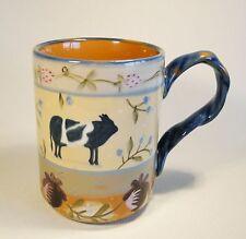 Zrike Avignon Mug  Cows RARE! BASE FLEABITES! GLAZE SKIPS!