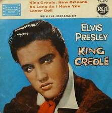 "ELVIS PRESLEY WITH THE JORDANAIRES  7""   EP KING CREOLE lover doll +3"