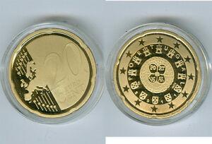 Portugal  20 Cent  PP/Proof  (Wählen Sie zwischen den Jahrgängen: 2005 - 2019)