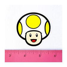 Skateboard Car Window Bumper PVC Decal Sticker - Yellow Toad Mushroom Hat Mario