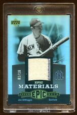 JOE DIMAGGIO 2006 UD GAME WORN JERSEY #01/16   2 COLOR SWATCHES  BEAUTIFUL  MINT