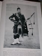 1896 PIPE MAJOR ARGYLL & SUTHERLAND HIGHLANDERS PIPES