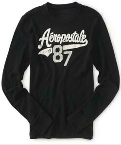 NEW Aeropostale Mens Baseball Style Graphic Crew Thermal Tee Shirt Sz XL XXL 3XL