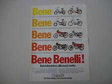advertising Pubblicità 1979 MOTO BENELLI MOTORELLA/G2 G-2/254/354 SPORT/900 SEI
