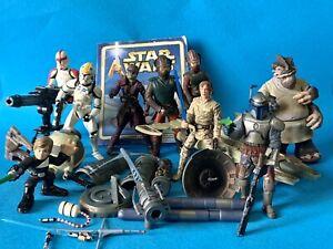 "Lot of Star Wars AOTC 2002 3.75"" Figures & Parts Jango Troopers Padme Typho Zam"