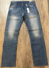 Diesel Larkee Relaxed W36 L34 NWT NEW Men's Jeans MSRP $195 Comfort Straight