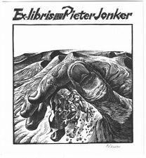 PETER LAZAROV: Exlibris für Pieter Jonker