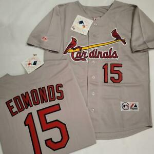 1705 Majestic St Louis Cardinals JIM EDMONDS Baseball Jersey GRAY New