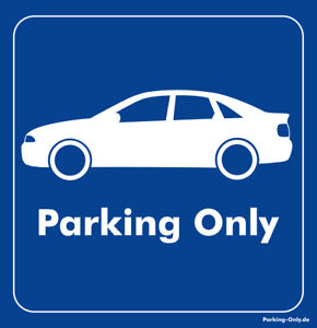 Parking Only - Audi A4 B5 Limo - Aufkleber