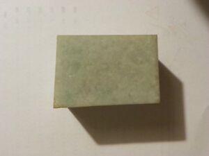 Jade Jadeite 30.44 Ounces Light Green 2 1/4 x 2 1/4 x 3 1/4 Inches Rough Vintage