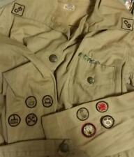 1920 's Girl Scout Khaki uniform with 8 Badges & Stars