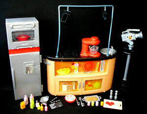 Barbie Doll I Can Be TV Chef Play Pretend Cooking Kitchen Food Playset Toy HTF