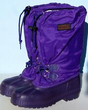 Sorel Women's Size 5 Purple Winter Snow Boots with Felt Liner - Made in Canada