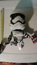 "Star Wars The Force Awakens First Order Stormtrooper Medium Talking Plush 9"""