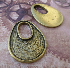 Pack of 2 – Unusual Antique Gold Cabochon Settings Pendant Blanks Resin Base