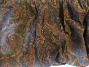 Vintage Ralph Lauren Brianna Elizabeth Paisley KING Dust Ruffle Bed Skirt USA