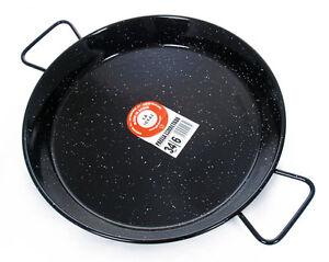 Garcima 38cm Enamelled Paella Pan.  Made in Spain.