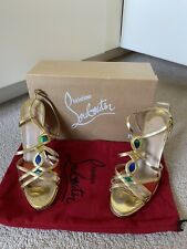 Christian Louboutin Gold Evening Sandals Size 39.5