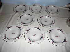 "8 Menuet Poland Royal Vienna Collection 8 1/2"" Rim Soup Bowls - Excellent"