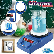 Magnetic Stirrer With Heating Lab Hotplate Mixer 5inch 220v Digital Display 600w