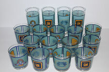 vintage GM General Motors car/auto employee issued (17) glass/tumbler set Fisher