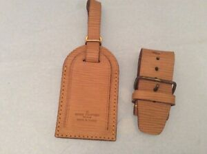 LOUIS VUITTON EPI Line STRAP HOLDER/Address Tag for KEEPALL/BANDOULIERE Yellow