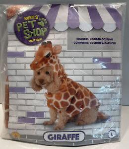 Giraffe Safari Animal Jungle Fancy Dress Pet Shop Halloween Dog Cat Costume Lrg