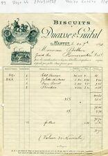 Dépt 44 - Nantes - Belle Entête Biscuits Ducasse & Guibat du 27/09/1898
