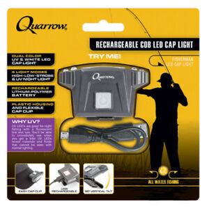 Quarrow ® COB LED USB Rechargeable Cap Light New Fishing Hunting Camping Gear