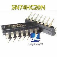 5PCS 74HC20 HD74HC20P SN74HC20N DIP-14 NEW