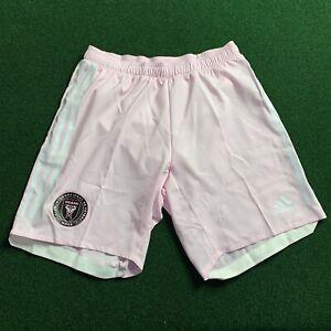 New Adidas Inter Miami CF MLS Pink Home Shorts - Size M GE1992