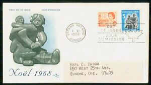 Mayfairstamps Canada FDC 1968 Noel Family Sculpture First Day Cover wwk_49853