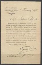 Q45-DOCUMENTO BANCO ESPAÑA 1895  EN MURCIA,FEDERICO DELGADO MORALES,CEHEGIN
