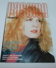 PASSION TECHNOLOGY V.25 Vintage 80s Hairstyle Makeup Book Hair Cutting Guide