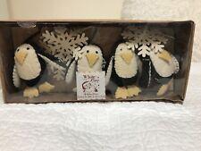 New White Pine Penguin Christmas Garland 6 Feet Xmas