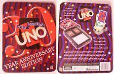 Mattel UNO 30 Year Anniversary Edition Card Game + 1997 Rugrats Card Game Bonus