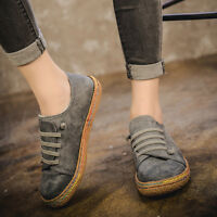 Women Suede Slip On Soft Loafers Lazy Casual Flat Casual Outdoor Sport Shoes New