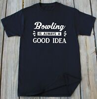 Mens Bowling T-shirt Funny Bowling League Team Novelty Tee Gift for Him