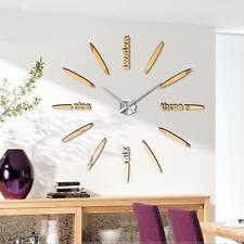 1x Modern Wall Clock Living Room DIY 3D Home Decoration Large Art Design Gold UP