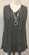 Lea H Curve Shirt Top schwarz weiß gestreift Damen grosse Grössen XXL