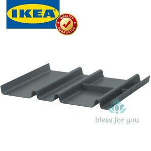 """IKEA SUMMERA Drawer Insert with 6 Compartments Anthracite 17 3/8x14 5/8 """""""