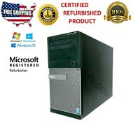 DELL OPTIPLEX 3020 MT INTEL G3240 3.10GHZ PC TOWER 1 YEAR FULL WARRANTY