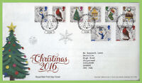 G.B. 2016 Christmas set on Royal Mail First Day Cover, Bethlehem