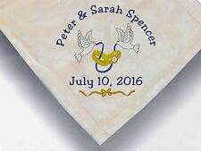 Personalized Monogrammed Throw Blanket w/ Embroidery Wedding Theme