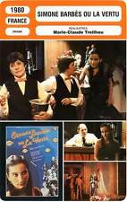 FICHE CINEMA : SIMONE BARBES OU LA VERTU - Bourgoin,Simonet,Treihou 1980