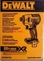 "NEW IN BOX Dewalt DCF887B 3-Speed Brushless 20V Max Cordless 1/4"" Impact Driver"