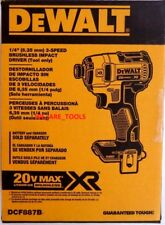 "NEW IN BOX Dewalt DCF887B 3-Speed Brushless 20V Max Cordless 1/4"" Impact Driver"