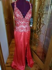 NWT RIVA DESIGNS  Red Prom Pageant Gala Cruise gown Size 14